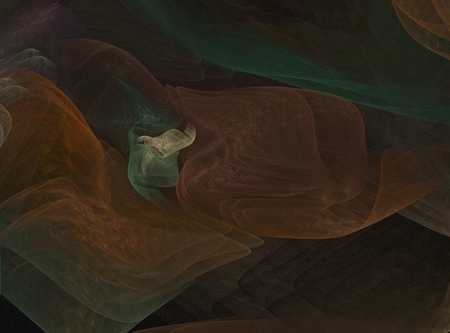 Abstract fractal composition on a color background.