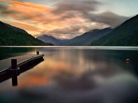 crescent: Sunset at Lake Crescent