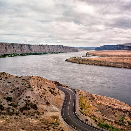 characteristic: Riverside highway Stock Photo
