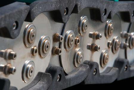 maschine: Stahlgelenkketten Stock Photo