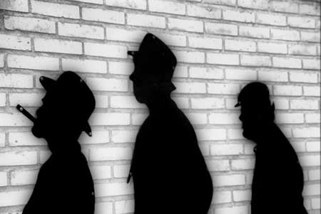 shadow puppets: Shadow puppets on the wall Stock Photo