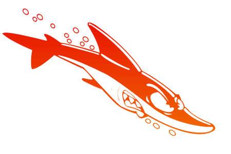 snappy: Cartoon Shark Stock Photo