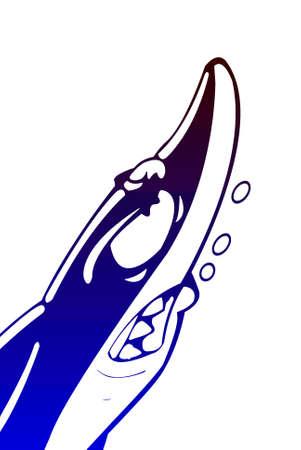 tiburon caricatura: Cartoon Shark Foto de archivo