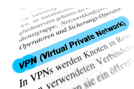 vpn: Virtual Private Network (VPN) Stock Photo