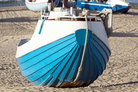 fishingboat: Danish fishing boat on the beach