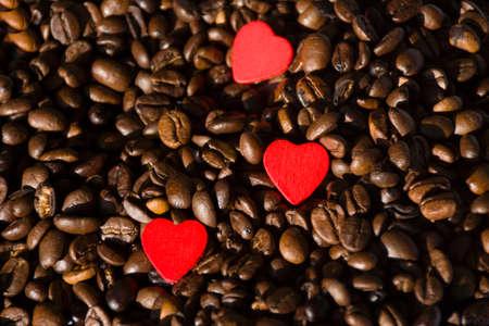 planta de cafe: Granos de caf� con el coraz�n