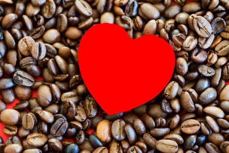 beans: Coffee Beans with heart Stock Photo