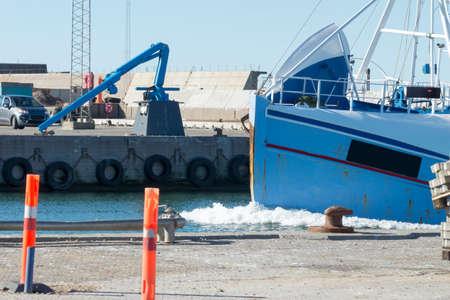 Fishing boat in the harbor of Hanstholm Denmark Stock Photo