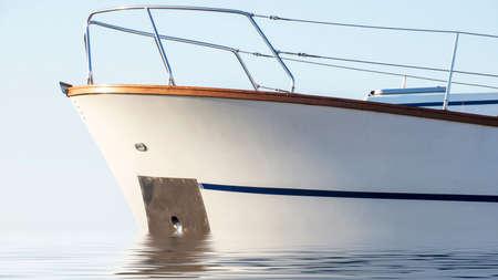 Yacht prow on the sea