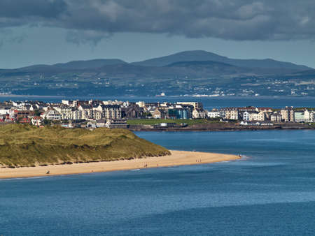 northern ireland: Portrush in Northern Ireland is a popular sea resort Stock Photo