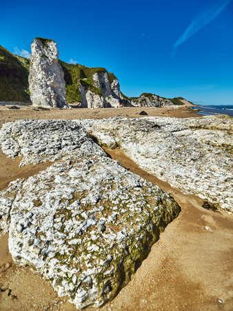 northern ireland: Coastline near Portrush in Northern Ireland Stock Photo