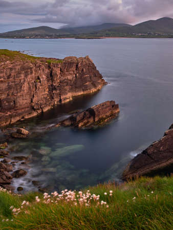dingle: The coast of the Dingle peninsula in Ireland is renownend for its beauty Stock Photo