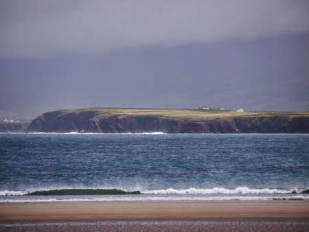 bn: The beach of Beal Bn on a rainy and windy day.