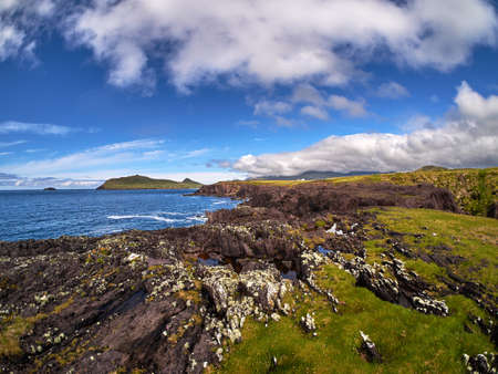 dingle: Rocky and rugged costline in Dingle, Ireland Stock Photo