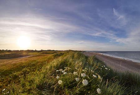 Golfcursus op het strand, Rosslare Strand, Ierland