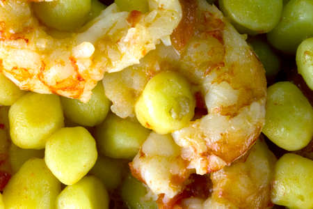Potato gnocchi with Argentinian prawns