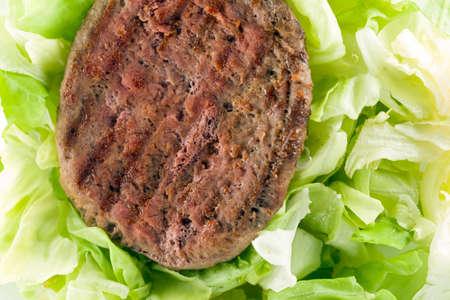 Hamburger with salad Stockfoto