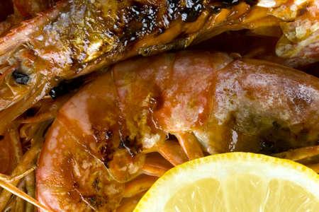 Cooked prawns Archivio Fotografico