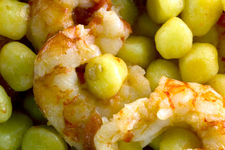 Potato gnocchi with Argentinian prawns