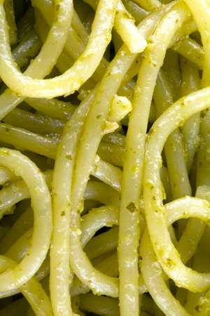 Spaghetti and pesto