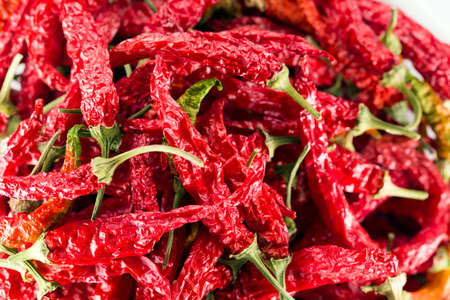 Dried chili peppers Stockfoto