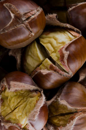 Chestnuts background. Stockfoto