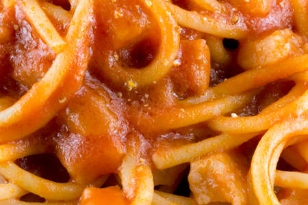 Spaghetti amatriciana background.