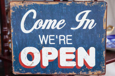 shop sign: Vintage Open sign Stock Photo