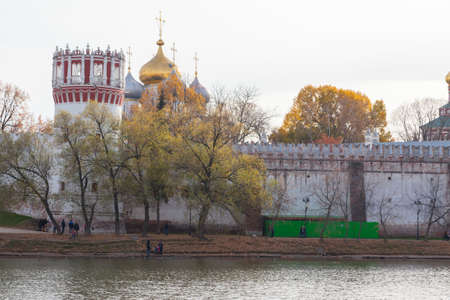 Novodevichy convent in Moscow, Russia. View from the pond. photo