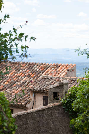 Traditional roofs of Provence photo