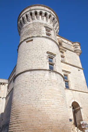 gordes: Castle with tower in Gordes, Provence, France