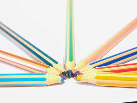 colored pencils Stok Fotoğraf - 129487009