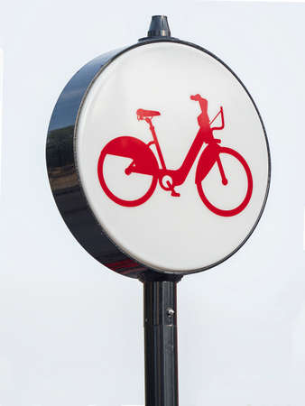 signaling pair of two wheels on white background
