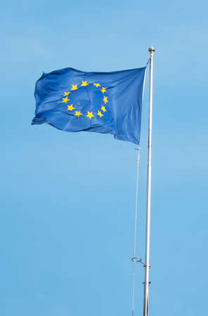 symbol of the economic community of Europe over a blue sky Stockfoto