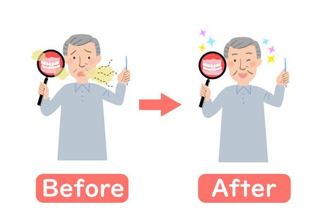 Before-after of Grandpa smell of dentures is a concern