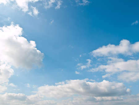 cloudscape: clean and clear blue sky for relax Stock Photo