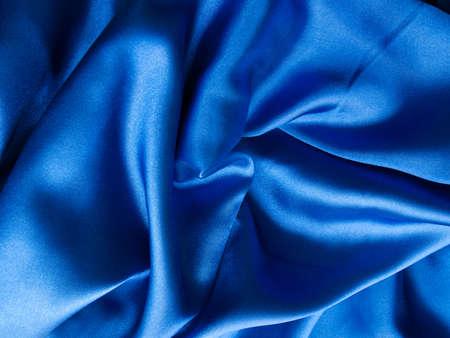 Luxury blue satin background photo