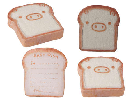 Towel, Bread Pig face Set Stock Photo - 9213570