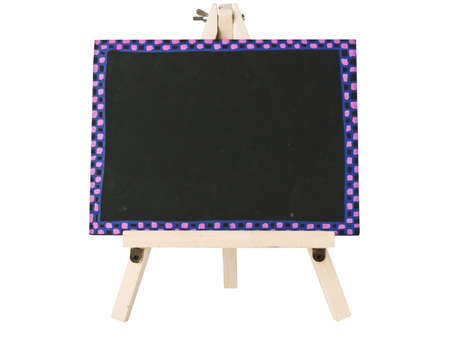 empty blackboard with tripod wooden Stock Photo - 9171540