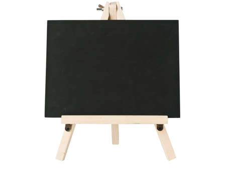 empty blackboard with tripod wooden
