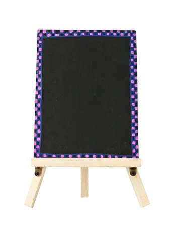 empty blackboard with tripod wooden photo