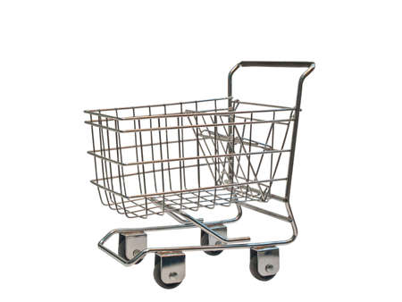 shopping cart isolated on white background Stock Photo - 9171532