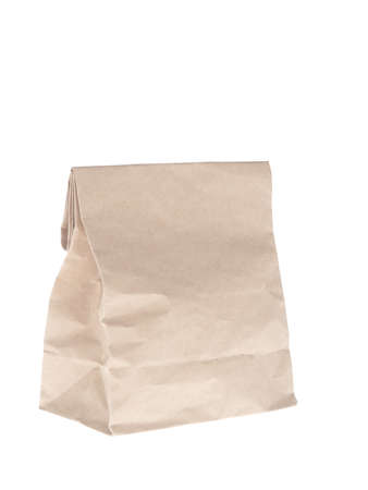 takeaway: Paper bags on white background Stock Photo