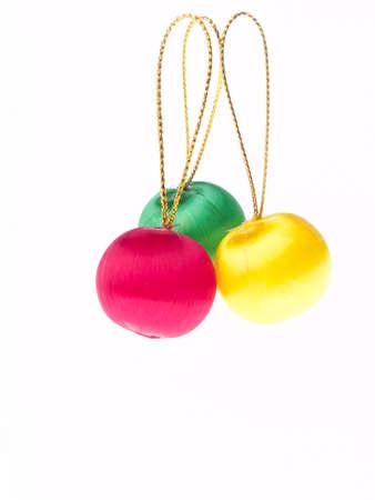 Christmas decoration isolated on white background photo