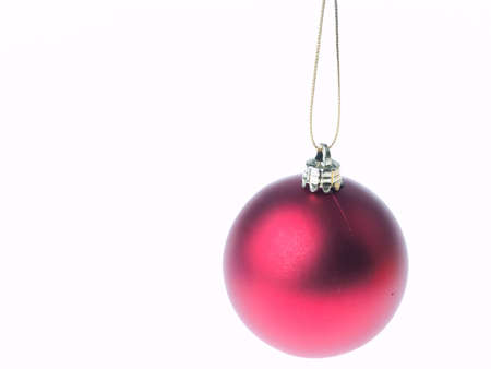 Christmas decoration isolated on white background photo