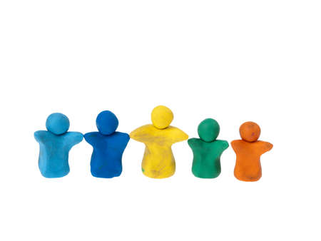 Team of plasticine people photo