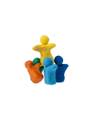 Team of plasticine people photo