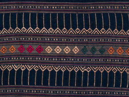 traditional Thai handmade fabric texture background photo