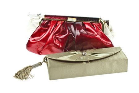 designer bag: The women clutch bag isolated on white background