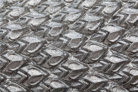 Texture sculpture of Silver Dragon Scales photo